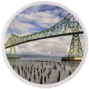Astoria Bridge Round Beach Towel