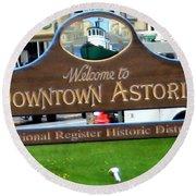 Astoria Oregon Round Beach Towel