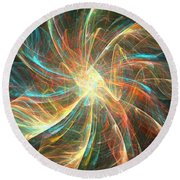 Astral Flower Round Beach Towel