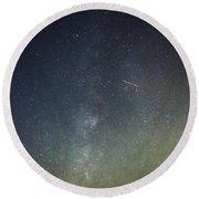 Astro Photography Milky Way Round Beach Towel