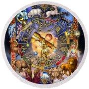 Astrology Round Beach Towel by Ciro Marchetti