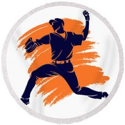 Astros Shadow Player2 Round Beach Towel