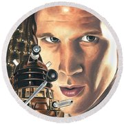 Doctor Who - Asylum Of The Daleks Round Beach Towel