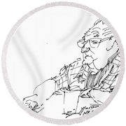 At Coffee Table Round Beach Towel