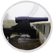 At Fort Trumbull Round Beach Towel