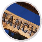At Home On The Ranch Round Beach Towel