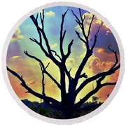 At Life's End There Is Light Round Beach Towel