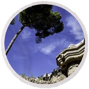 At Parc Guell In Barcelona - Spain Round Beach Towel