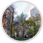 At Rittenhouse Square Round Beach Towel