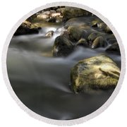 At The Banias River 2 Round Beach Towel