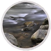At The Banias River 3 Round Beach Towel