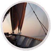At The Bow Round Beach Towel
