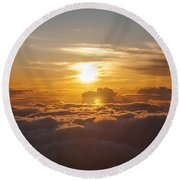 At The End Of The Day Round Beach Towel