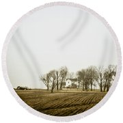 At The Farm Round Beach Towel