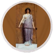 At The Gate Round Beach Towel