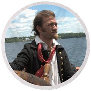 At The Helm Round Beach Towel
