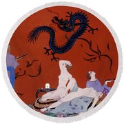 At The House Of Pasotz Round Beach Towel