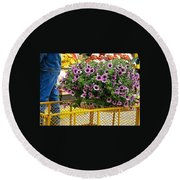 At The Market Round Beach Towel