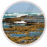 At The Sea Round Beach Towel