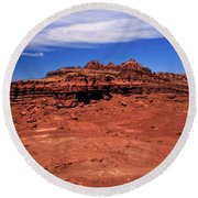 At The Top Round Beach Towel