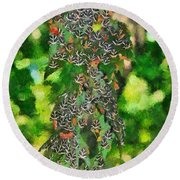 At The Valley Of Butterflies In Rhodes Island Round Beach Towel