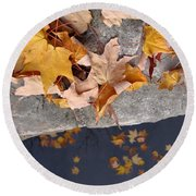 At Water's Edge Round Beach Towel
