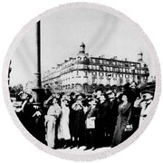 Atget Eclipse, 1912 Round Beach Towel