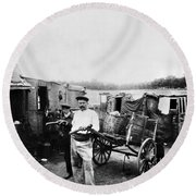 Atget Shantytown, C1900 Round Beach Towel