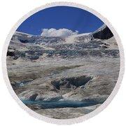 Athabasca Glacier 1 Round Beach Towel