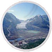 1m3735-athabasca Glacier Round Beach Towel