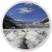 Athabasca Glacier Round Beach Towel