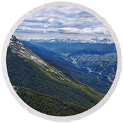Athabasca River Valley - Jasper Round Beach Towel