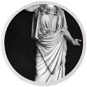 Athena Or Minerva Round Beach Towel