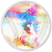 Athena Parthenos Round Beach Towel