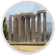 Athens 1 Round Beach Towel