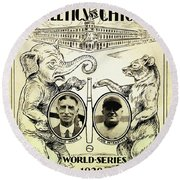 Athletics Vs Chicago 1929 World Series Round Beach Towel