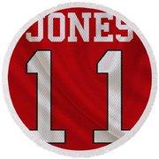 Atlanta Falcons Julio Jones Round Beach Towel