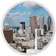 Atlanta Skyline Round Beach Towel