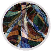Atlanta Solis Abstract Art Round Beach Towel