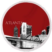 Atlanta World Of Coke Museum - Dark Red Round Beach Towel