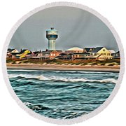 Atlantic Beach Round Beach Towel