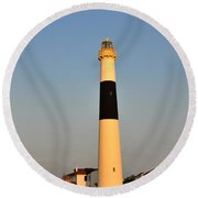 Atlantic City - Absecon Lighthouse Round Beach Towel
