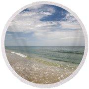 Atlantic Ocean Beach V Round Beach Towel