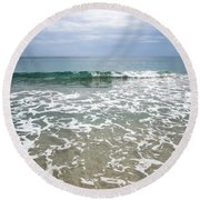 Atlantic Ocean Surf Round Beach Towel