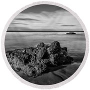 Downhill - Atlantic Rocks Round Beach Towel