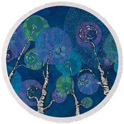 Atlantis Arbor Round Beach Towel