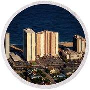 Atlantis Condominium Ocean City Md Round Beach Towel
