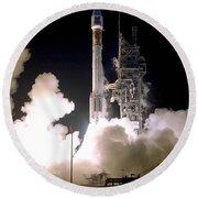 Atlas 2as Rocket Launch Round Beach Towel