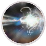 Atom Collision Round Beach Towel