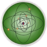 Atomic Structure Model Round Beach Towel
